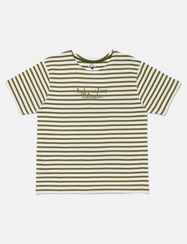SCRT Independent Thought Breton T-Shirt - Olive Green