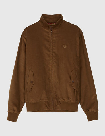Fred Perry Made In England Harrington Jacket - Cocoa Brown