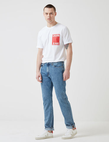Calvin Klein Box Chest Logo T-Shirt - White
