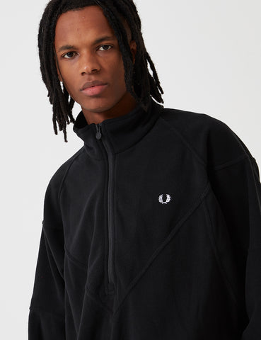 Fred Perry Monochrome Half Zip Fleece - Black