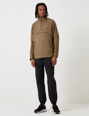 Fred Perry Half Zip Hooded Jacket - Dark Khaki