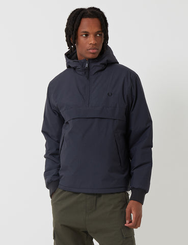 Fred Perry Half Zip Hooded Brentham Jacket - Graphite Grey