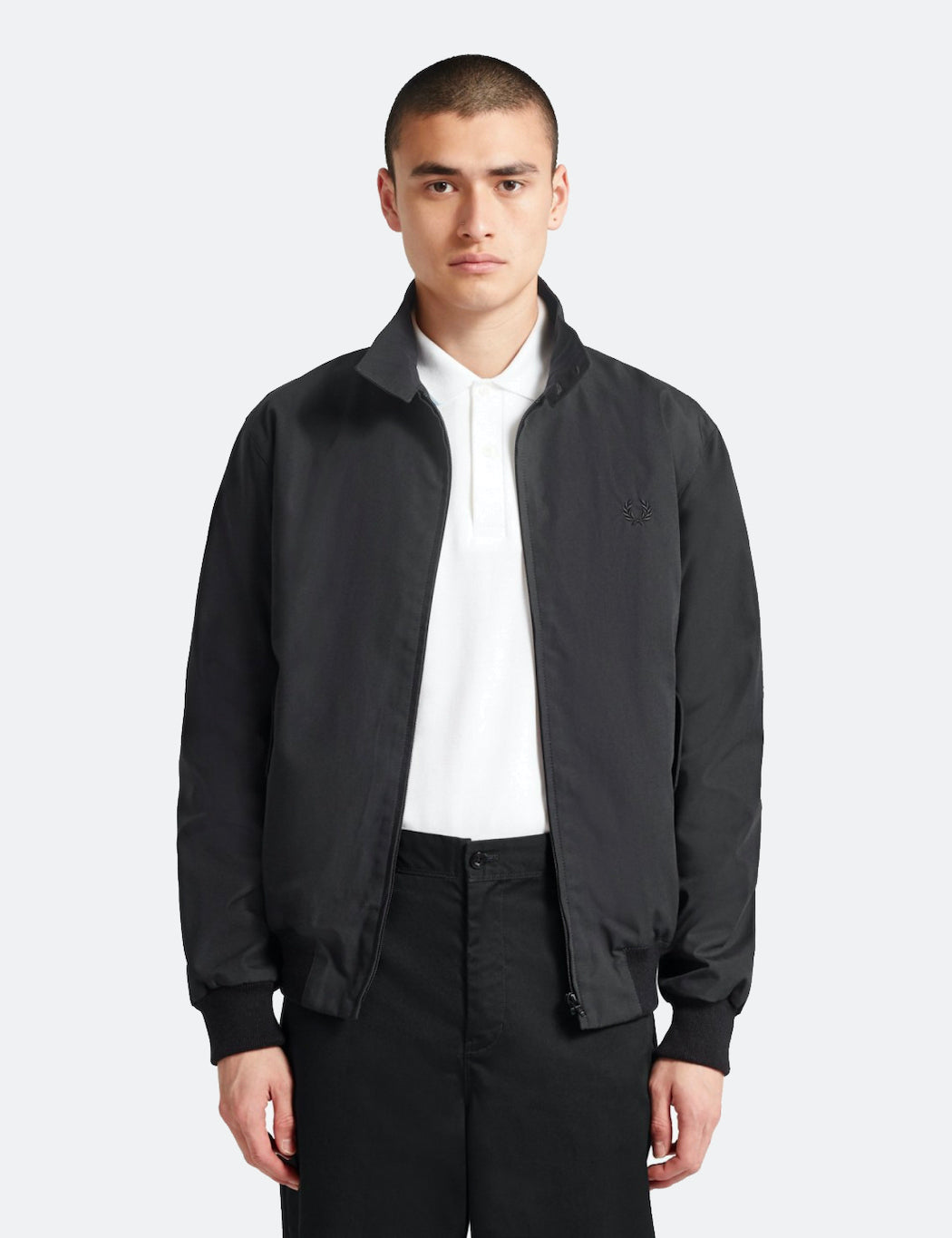 Fred Perry Re-issues Harrington Jacket - Black | URBAN EXCESS.