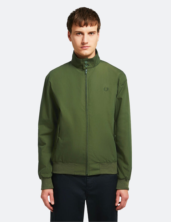 Fred Perry Neuauflagen Harrington Jacke (Made in UK) - Olivgrün