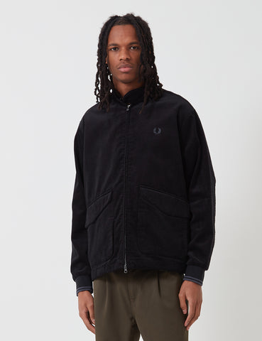Fred Perry Cord Harrington Jacket - Black