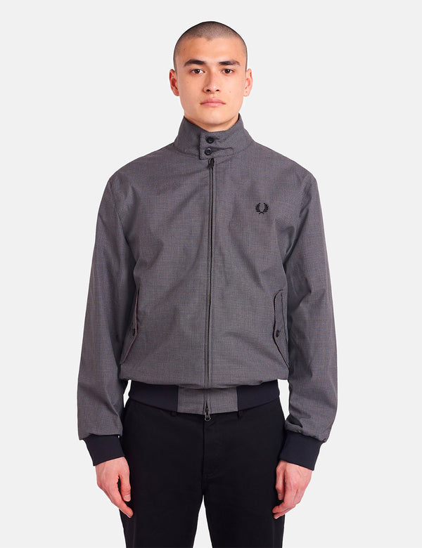 Fred Perry Jacquard Harrington - Schwarz