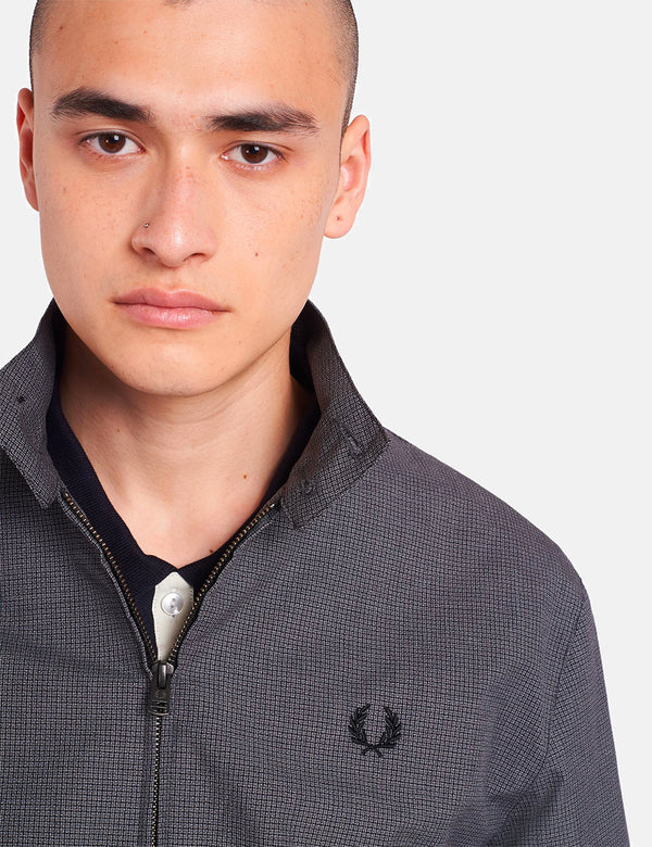 Fred Perry Jacquard Harrington - Black