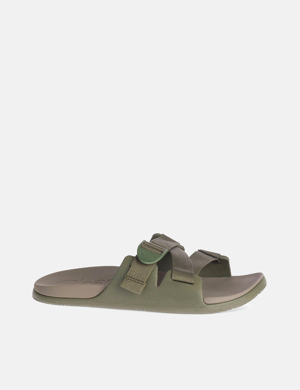 Chaco Chillos Slide Sandal - Fossil Green