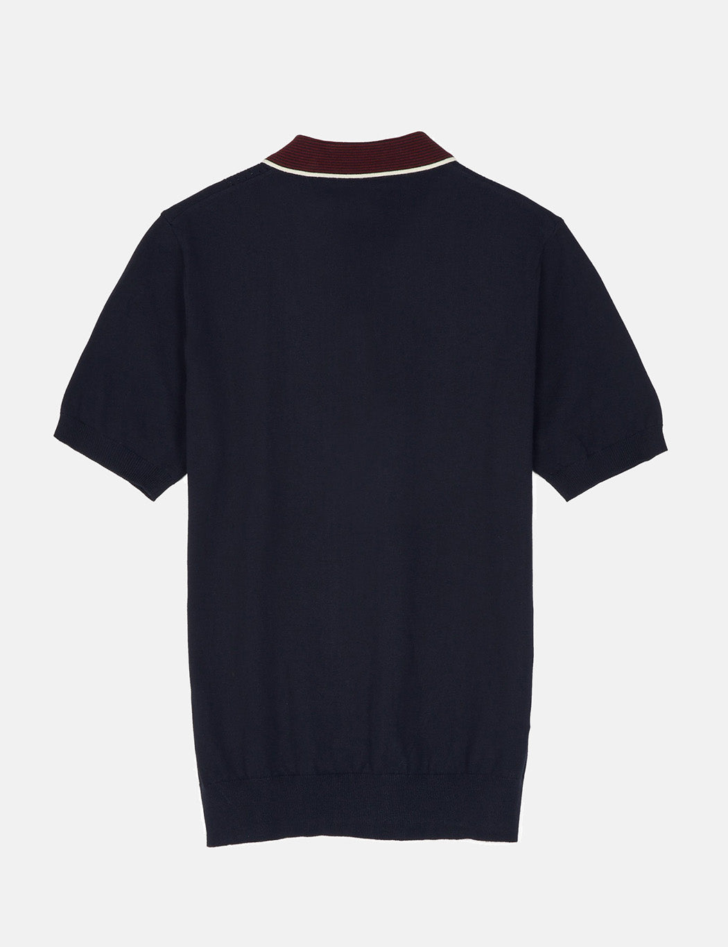 Fred Perry Pointelle Knit Shirt - Navy Blue