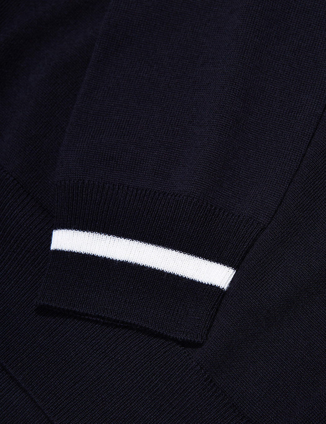 Fred Perry Re-issues Tipped Cuff Knit Polo Shirt - Navy