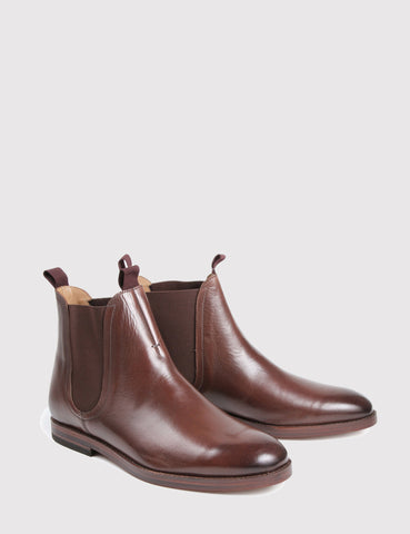 Hudson Tamper Chelsea Boot (Leather) - Brown