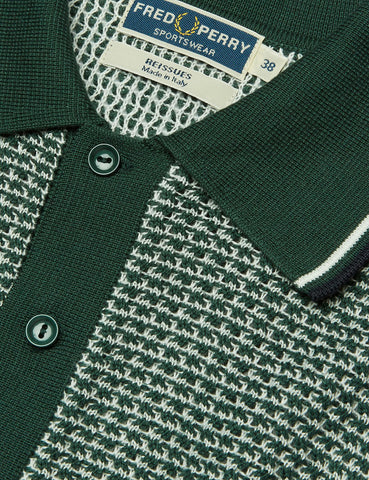 Fred Perry Texture Knit Shirt - Tartan Green