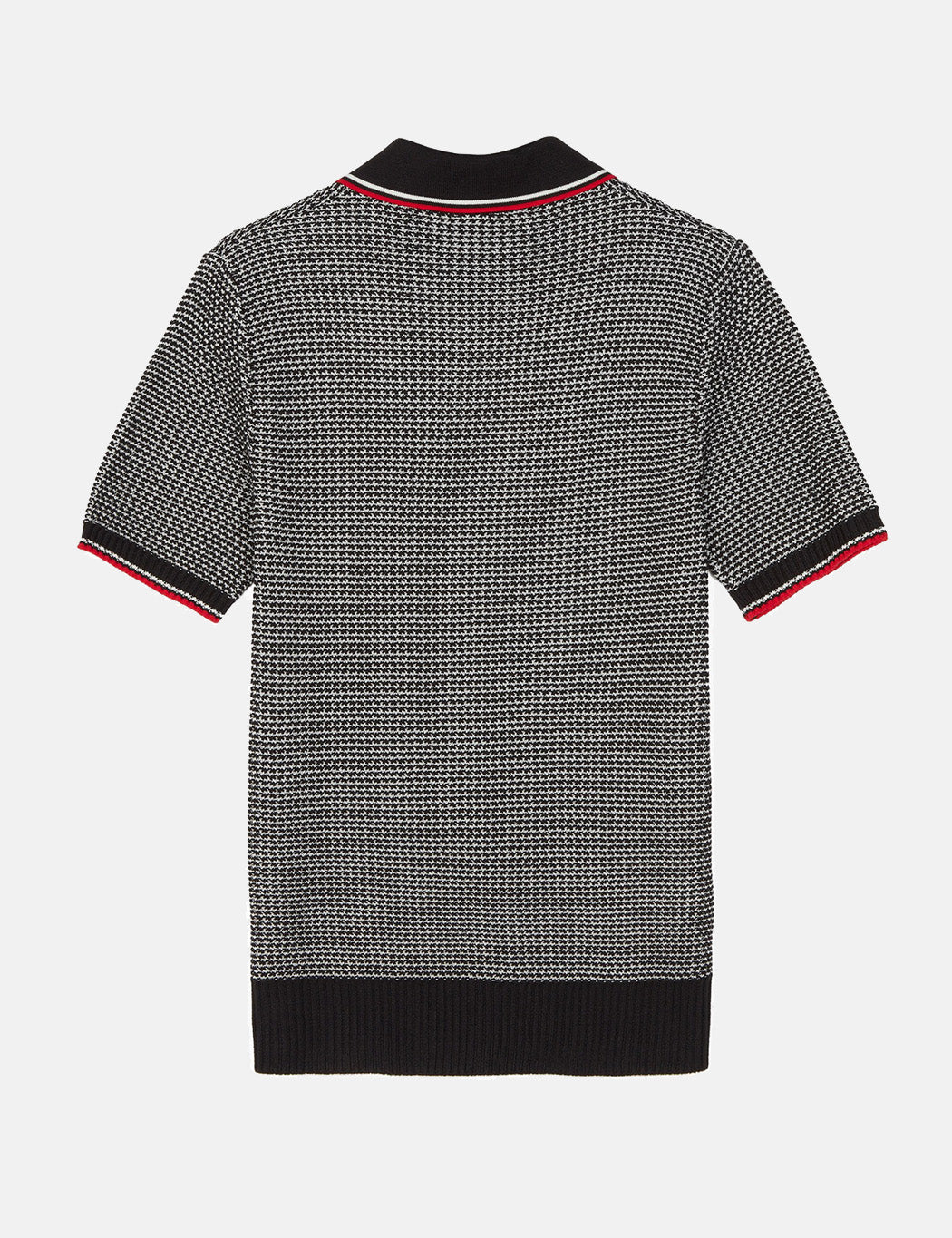 Fred Perry Texture Knit Shirt - Black