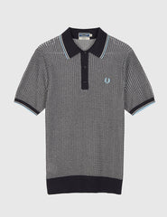 Fred Perry Texture Knit Shirt - Navy