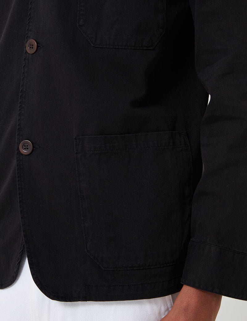 Portuguese Flannel Labura Workwear Jacket (Cotton) - Black