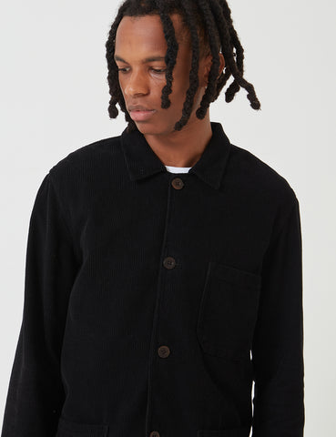 Portuguese Flannel Labura Workwear Jacket (Cord) - Black