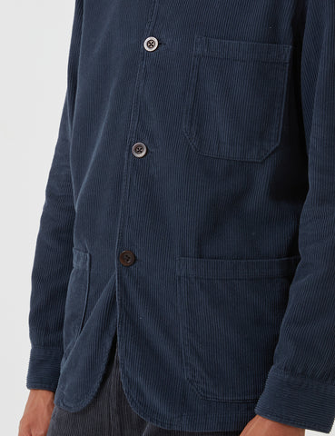 Portuguese Flannel Labura Workwear Jacket (Cord) - Navy Blue