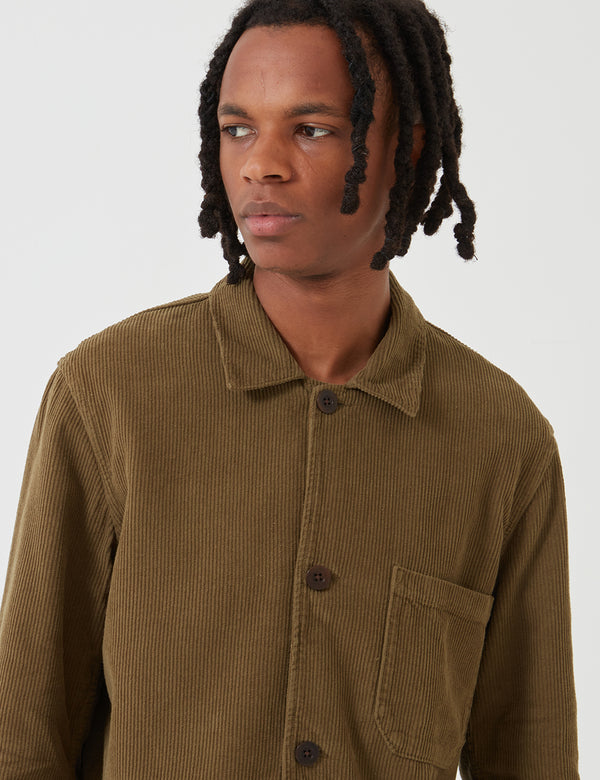 Portuguese Flannel Labura Workwear Jacket (Cord) - Olive Green