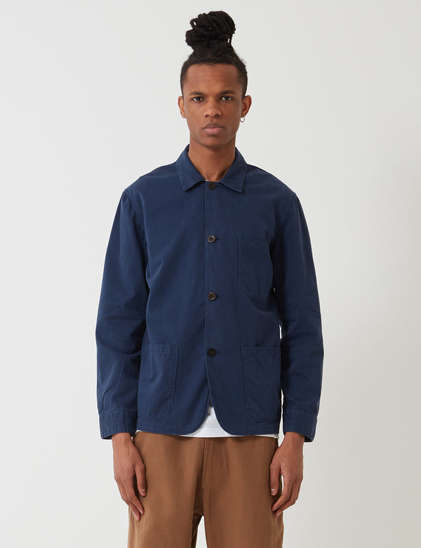 Portuguese Flannel Labura Workwear Jacket (Cotton) - Navy Blue
