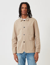 Portuguese Flannel Labura Jacket (Cotton) - Sand Brown