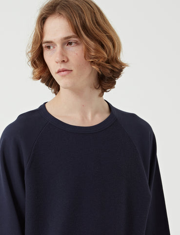 Les Basics Le Loopback Sweatshirt - Navy Blue