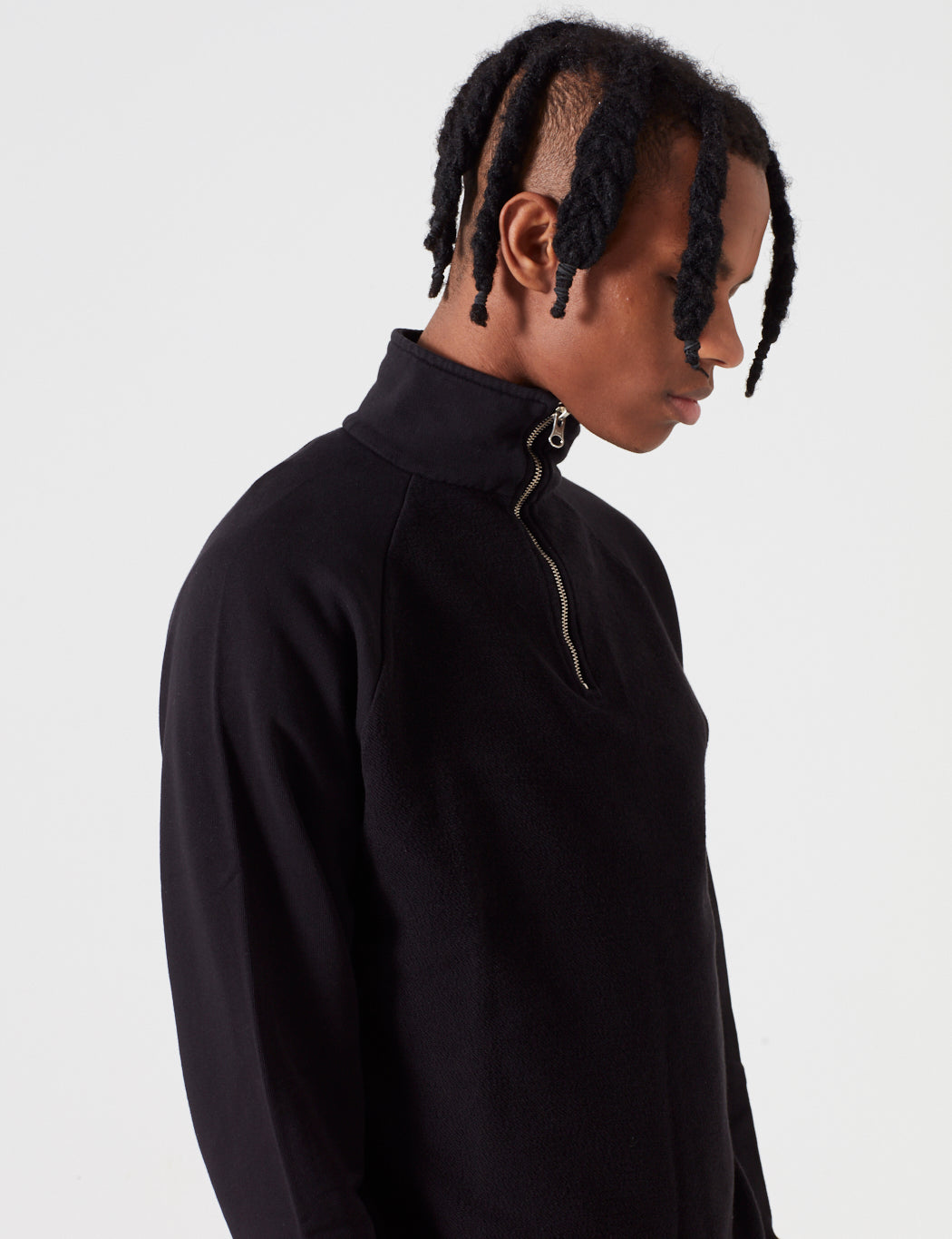 Les Basics Le Zip Loopback Sweatshirt - Black