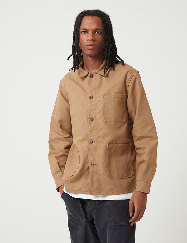 Le Laboureur Work Jacket (Linen) - Light Brown