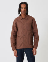 Le Laboureur Cotton Work Jacket - Brown