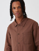 Le Laboureur Cotton WorkJacket - Brown