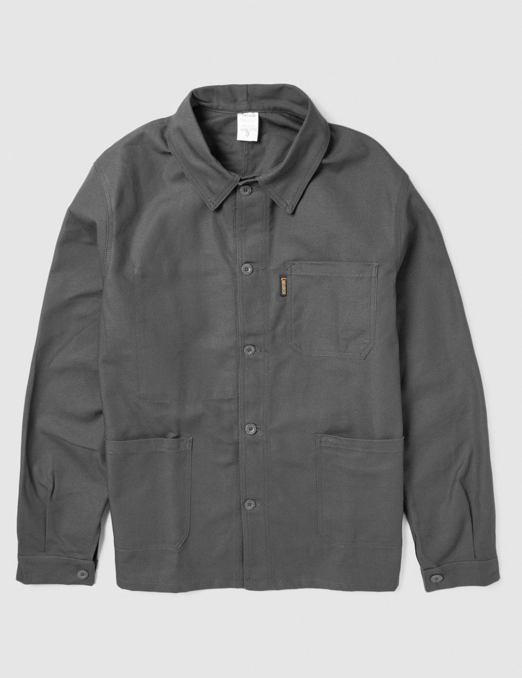 Le Laboureur Cotton Work Jacket - Charcoal Grey