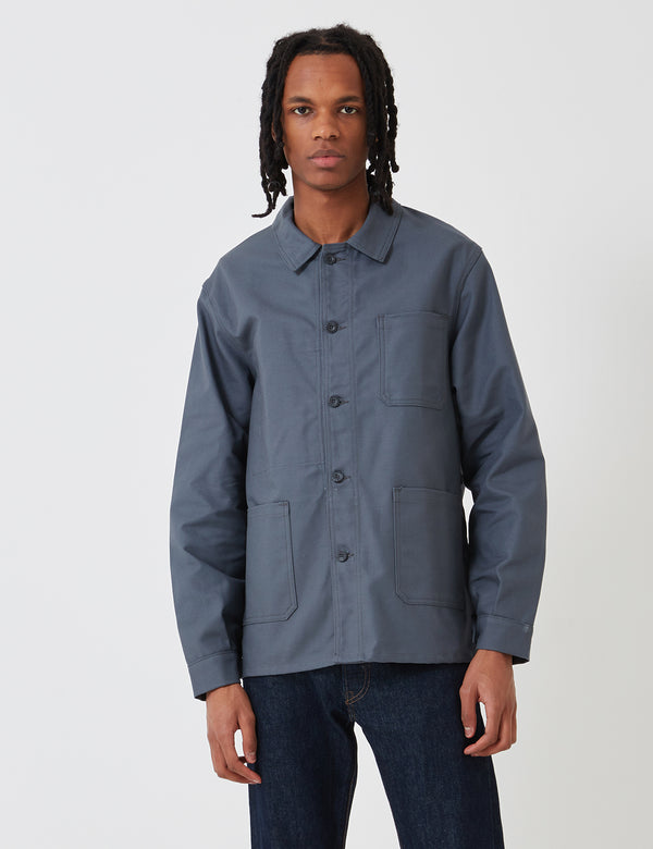 Le Laboureur Cotton Arbeitsjacke - Charcoal Grey