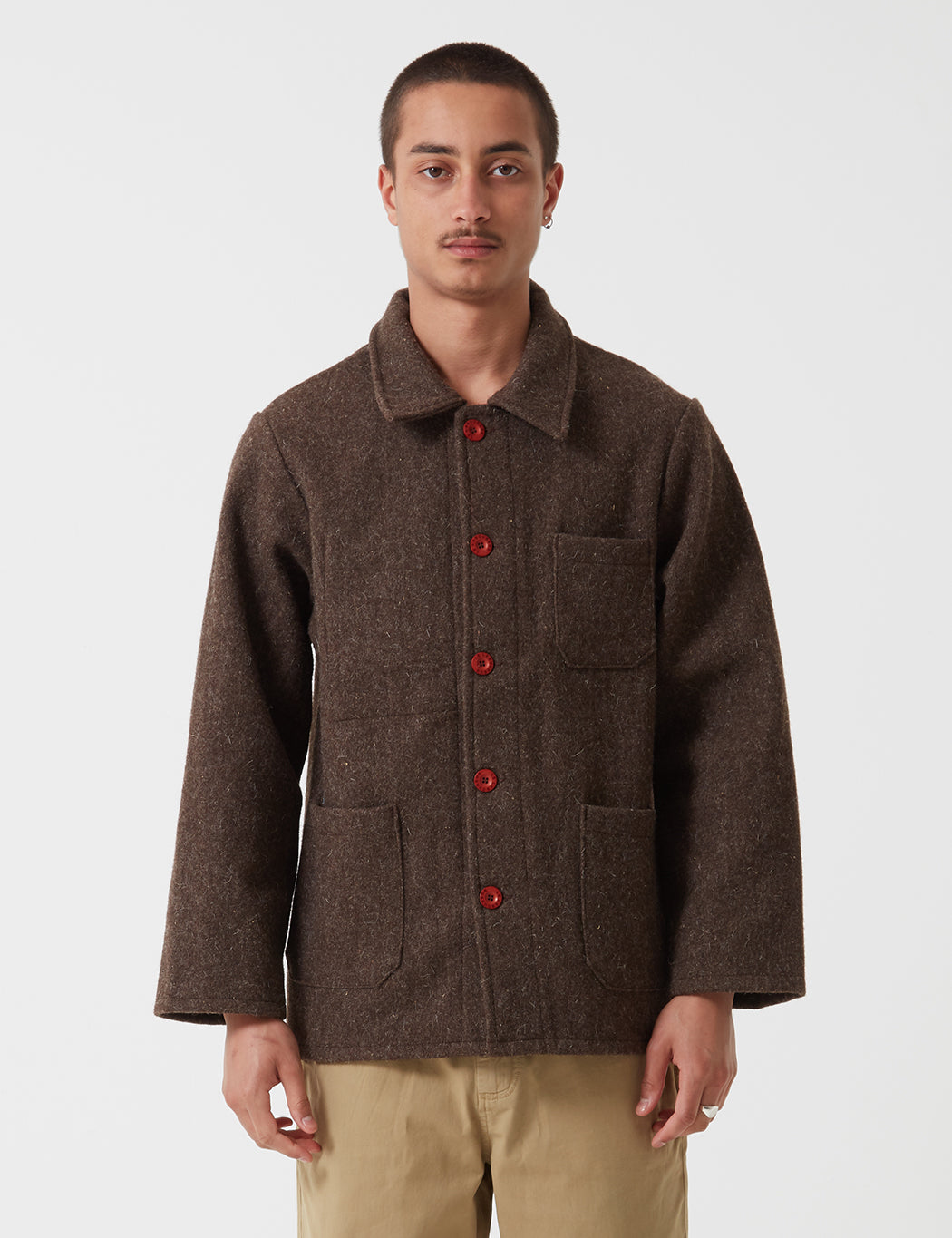 Le Laboureur Wool Work Jacket - Brown