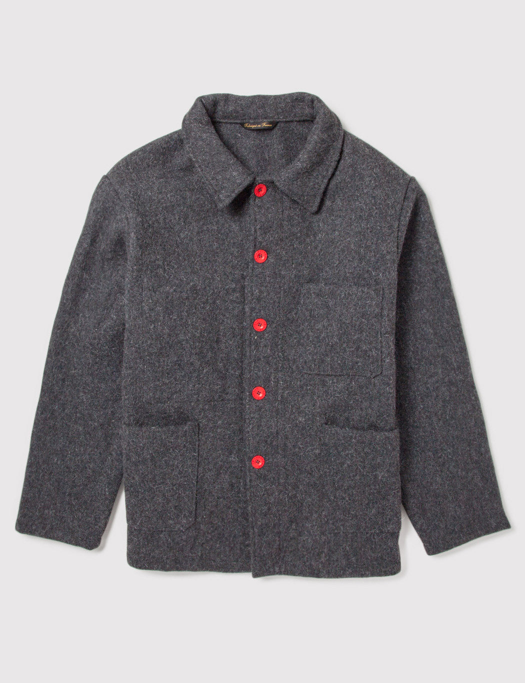 Le Laboureur Wool Work Jacket - Grey