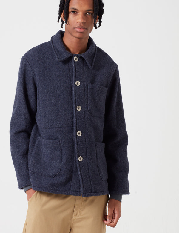 Le Laboureur Wool Work Jacket - Navy