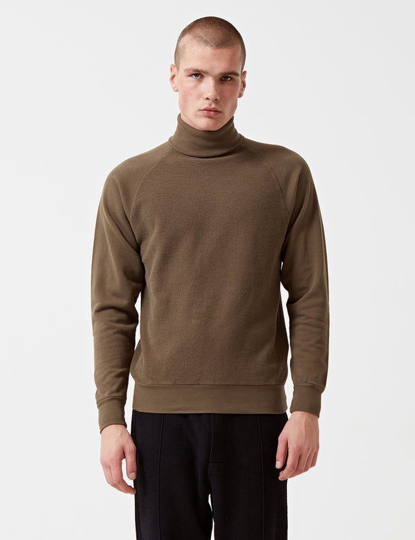 Sweat Les Basics Le Roll Neck - Army Green