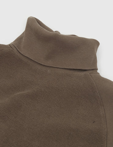Les Basics Le Roll Neck Sweatshirt - Army Green