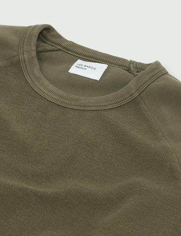 Les Basics Le Loopback Sweatshirt - Army Green