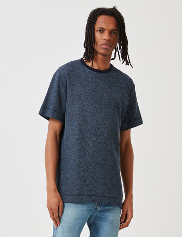 Libertine-Libertine Action T-Shirt - Dark Navy/White