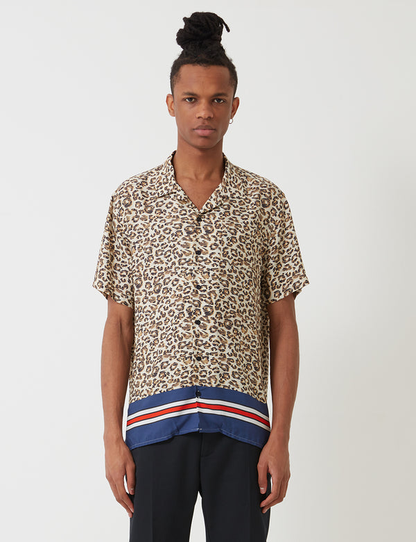 Libertine-Libertine Cave Shirt - Navy/Off White