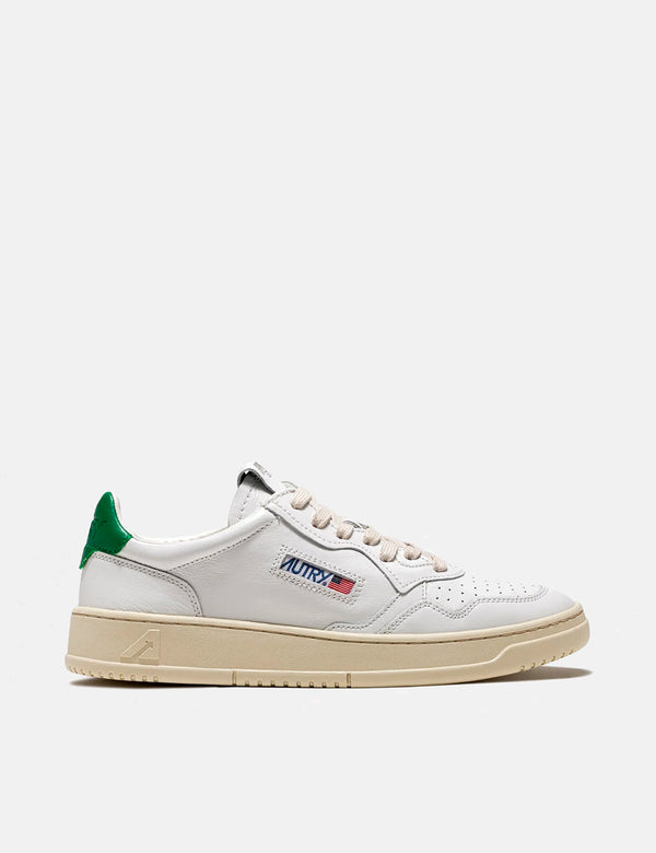 Autry Medalist LL20 Trainers (Leather) - White/Green