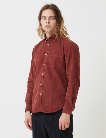 Portuguese Flannel Lobo Shirt - Bordeaux