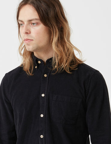 Portuguese Flannel Lobo Shirt - Black
