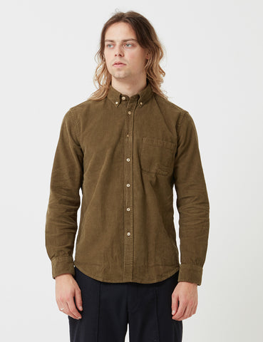 Portuguese Flannel Lobo Shirt - Olive Green