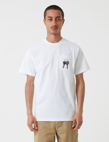 Stu Gazi Love Ertz Pocket T-Shirt - White