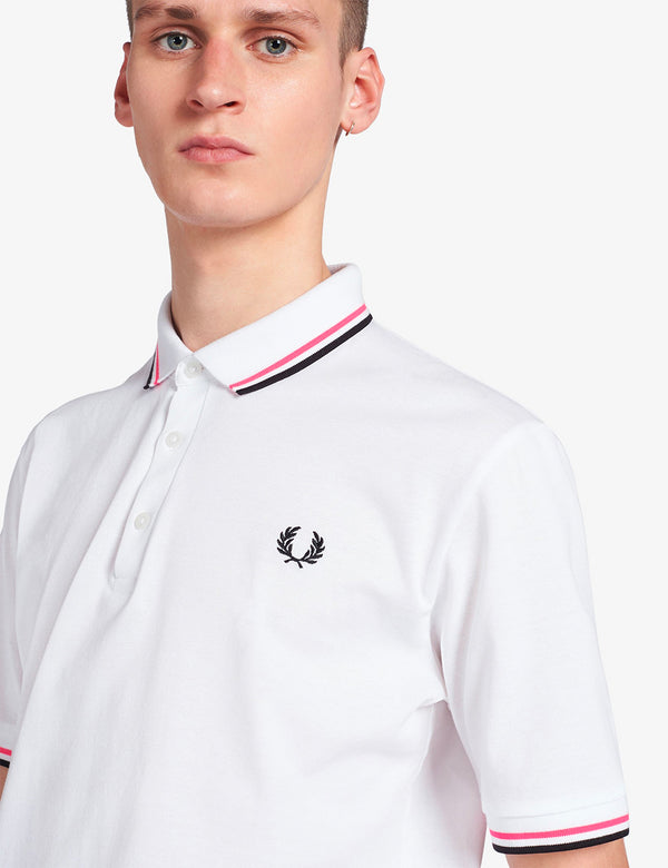 Polo Fred Perry Made in Japan - Blanc