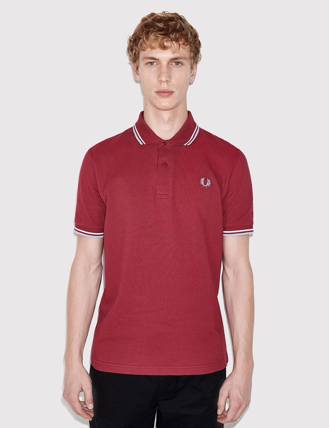 fred perry twin tipped polo shirt maroon urban excess. Black Bedroom Furniture Sets. Home Design Ideas