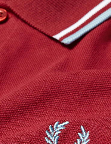 Fred Perry Twin Tipped Polo Shirt - Maroon