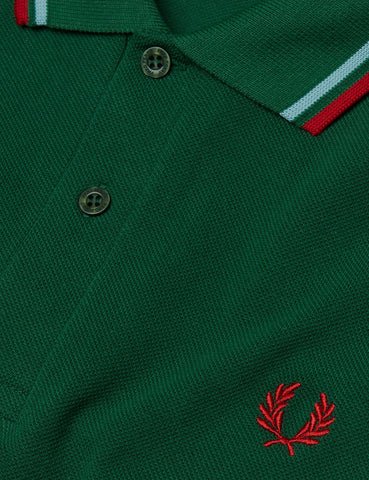 Fred Perry Twin Tipped Polo Shirt - Tartan Green