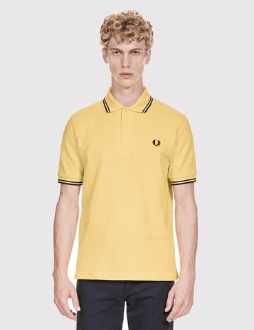 Fred Perry Twin Tipped Polo Shirt - Ice Lemon Yellow