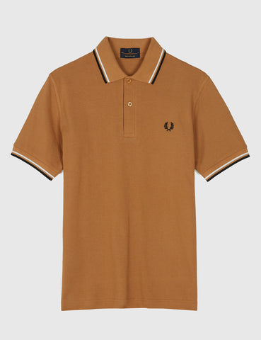Fred Perry Twin Tipped Polo Shirt - Caramel